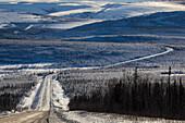 Dalton Highway in Wintertime, Yukon-Koyukuk Census Area, Alaska, USA