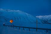 Roadsign Avalnche Area at Dalton Highway, North Slope Borough, Alaska, USA