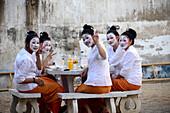 Preparation to festival Loi Krathong, Chiang Mai, North-Thailand, Thailand, Asia
