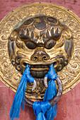 Ornate door handle, Erdene Zuu Khiid, Buddhist Monastery, Kharkhorin Karakorum, Central Mongolia, Central Asia, Asia