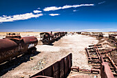 Train Cemetery Train Graveyard, Uyuni, Bolivia, South America