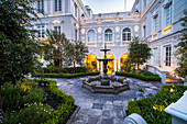 Courtyard at Casa Gangotena Boutique Hotel, luxury accommodation in the Historic City of Quito, Ecuador, South America