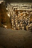 Pit 1, Warrtiors, Terracotta Army, UNESCO World Heritage Site, Xian, Shaanxi, China, Asia