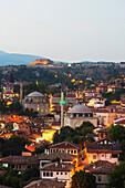 Old Ottoman town houses and Izzet Pasar Cami Mosque, UNESCO World Heritage Site, Safranbolu, Central Anatolia, Turkey, Asia Minor, Eurasia
