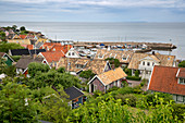 View over village and harbour, Arild, Kulla Peninsula, Skane, South Sweden, Sweden, Scandinavia, Europe