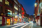 Chinatown at night, Newcastle Upon Tyne, Tyne and Wear, England, United Kingdom, Europe
