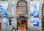 Sao Bento Station entryway, Porto, Porto, Portugal