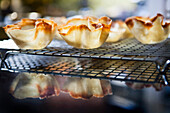Baked Tuiles on Cooling Rack