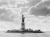 Statue of Liberty, New York Harbor, New York City, USA, circa 1905