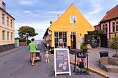 Ismejeri & Kaffebar, the best ice cream in the city, Bornholm is famous for its ice-cream, Baltic sea, Bornholm, Svaneke, Denmark, Europe