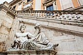 River god with horn of plenty, Piazza del Campidoglio, Rome, Italy