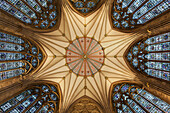 Architectural detail of York Minster ceiling, York, Yorkshire, England