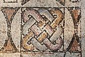 Decorative mosaic of tile in the Synagogue of Sardis, Sardis, Turkey
