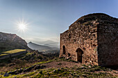 Ruins of a stone building, Corinth, Greece