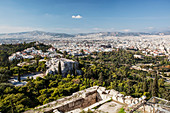 Cityscape and historical sites, Athens, Greece