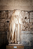 Cult statue of Apollo Patroos from the fourth century BC, found near the temple of Apollo, Athens, Greece