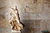 Carved statue, Ancient Agora Museum, Athens, Greece