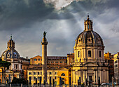 Santa Maria di Loreto Church and Trajan's Column, Rome, Italy