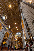 Tourists in St. Peter's Basilica, Rome, Italy