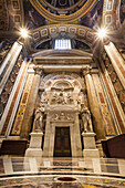 Monument of Pius VII in the Clementine Chapel, St. Peter's Basilica, Rome, Italy