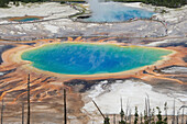 Prismatic pools 7, Yellowstone National Park, Wyoming, United States of America