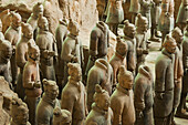 Xian´s Terracota Warriors, a collection of terracotta sculptures depicting the armies of Qin Shi Huang, the first Emperor of China. It is a form of funerary art buried with the emperor in 210–209 BCE and whose purpose was to protect the emperor in his aft