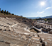 Ruins of a theatre built in the second century, Ephesus, Izmir, Turkey