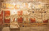 Fresco painting in a museum, Ephesus, Izmir, Turkey
