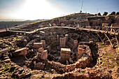 Oldest archeological sanctuary on Gobekli Hill, Gobekli Tepe, Turkey
