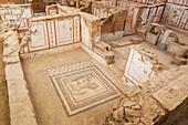 Ancient stone artifacts in a museum, Ephesus, Izmir, Turkey