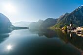 Hallstatt am Hallstätter See, UNESCO Welterbestätte Die Kulturlandschaft Hallstatt-Dachstein / Salzkammergut, Oberösterreich, Österreich