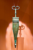 Antenna dagger, grave goods of the Hallstatt Culture, Museum Hallstatt, a UNESCO World Heritage Site The cultural landscape Hallstatt-Dachstein / Salzkammergut, Upper Austria, Austria