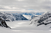 Aletsch Glacier, Jungfraujoch, a UNESCO World Heritage Site Swiss Alps Jungfrau-Aletsch, canton Bern, Bernese Oberland, Switzerland