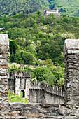 Ramparts, fortification, UNESCO World Heritage Site Three Castles, fortresses and ramparts of Bellinzona, Ticino, Switzerland