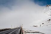 Julier Pass, winter, snow, Graubuenden, Switzerland