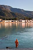Sadhu at the river Ganges, Rishikesh, Uttarakhand, India