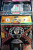 Painted motor rikscha in Haridwar, Uttarakhand, India