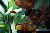 Hindu Temple ceremony in a Shiva Temple, Goa, India