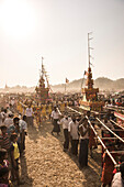 Mrauk U, Dung Bwe Festival for the passing of an important Buddhist Monk, Rakhine State, Myanmar Burma, Asia