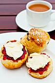 Cream tea, Cornwall, England, United Kingdom, Europe