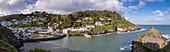 Polperro harbour on the South Cornish coast, Cornwall, England, United Kingdom, Europe