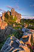 The 15th century ruined chapel on top of Roche Rock, Roche, Cornwall, England, United Kingdom, Europe