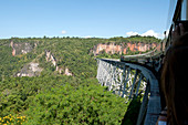 The Goteik viaduct, constructed in 1899, 689 metres long and approximately 250 metres high, Nawnghkio, Shan state, Myanmar Burma, Asia
