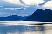 Dawn on Storfjord Storfjorden, Norway, Scandinavia, Europe