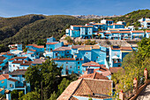 juzcar is the village of the smurfs. for the film shoot, all the whitewashed houses in the town, a white village (pueblo blanco), were panted blue. after the filming of the movie the townspeople decided to keep the blue color for the tourists, costa del s