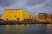 contemporary architecture, the kursaal convention center, kursall cubes, san sebastian, donostia, basque country, spain