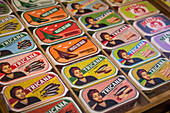 tricana brand tin of sardines, lisbon, portugal, europe