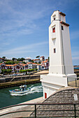 entrance to the port of saint jean de luz and ciboure, (64) pyrenees-atlantiques, aquitaine