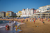 the beach of saint jean de luz, basque country, (64) pyrenees atlantiques, aquitaine