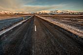 Ring Road, Vatnajokul glacier at Sunset, Winter, Cold, Vatnajokul, Iceland